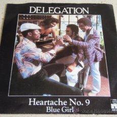 Discos de vinilo: DELEGATION ( HEARTACHE Nº9 - BLUE GIRL ) 1980- SWEDEN SINGLE45 ARIOLA. Lote 170246606