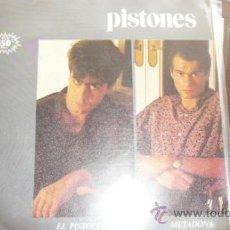 Discos de vinilo: PISTONES :EL PISTOLERO + METADONA. (ARIOLA, 1983). Lote 35713025