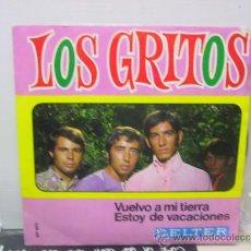 Discos de vinilo: LOS GRITOS - VUELVO A MI TIERRA / ESTOY DE VACACIONES - BELTER 1968. Lote 35232989