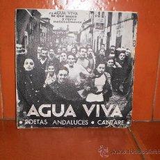 Discos de vinilo: AGUA VIVA POETAS ANDALUCES - CANTARE. Lote 35242296