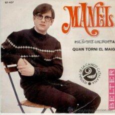 MANEL - HA MORT UN POETA - QUAN TORNI EL MAIG - SG SPAIN 1968 - VG++ / EX