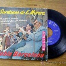 Discos de vinilo: SARDANES DE E.MORERA.LES FULLES SEQUES.LA SARDANA DE LES MONGES.LA NOSTRA ROSER.LA GRACIETA. Lote 35264717