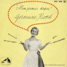 Discos de vinilo: GERMAINE RICORD - PEPITA DE MALLORCA ( PEPITA DE MAJORQUE ) - AH, LA LA LA LA+ 2 - EP FRANCE EX / EX. Lote 35288350