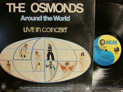 THE OSMONDS / AROUND THE WORLD IN CONCERT !! DOBLE LP !! ORIG. USA !! EXCELENTE !!!! (Música - Discos - LP Vinilo - Pop - Rock Extranjero de los 50 y 60)