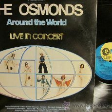 Discos de vinilo: THE OSMONDS / AROUND THE WORLD IN CONCERT !! DOBLE LP !! ORIG. USA !! EXCELENTE !!!!. Lote 35288941