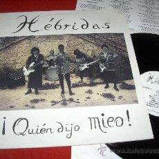Discos de vinilo: HEBRIDAS ¡QUIEN DIJO MIEO! LP 1994 INDIE SR.CHINARRO ELEFANT. Lote 54043530