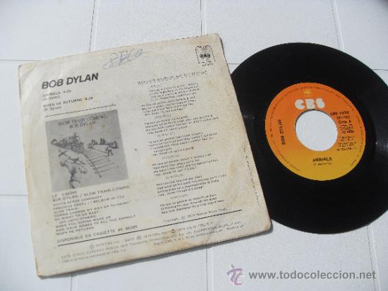 Discos de vinilo: BOB DYLAN SINGLE Animals edit. SPAIN 1979 - Foto 2 - 35284693