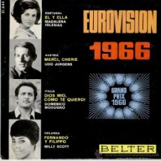 Disques de vinyle: EUROVISION 1966 - MADALENA IGLESIAS / UDO JURGENS / DOMENICO MODUGNO / MILLY SCOTT - EP SPAIN - EX /. Lote 35312048