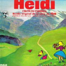 Discos de vinilo: HEIDI. VOL. 3 - BANDA SONORA ORIGINAL DE LA SERIE DE RTVE - LP 1975. Lote 35328460