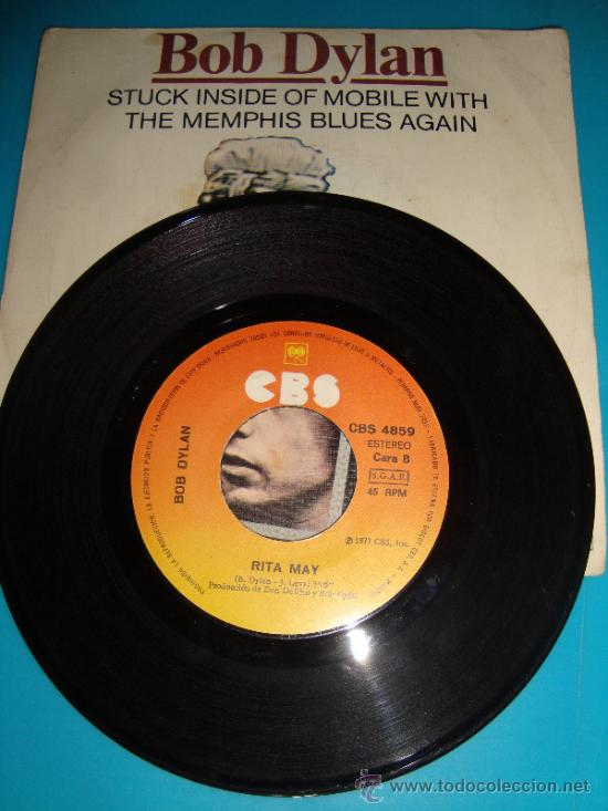DISCO DE VINILO BOB DILAN ESPAÑA DISCOS CBS S. A. MADRID AÑO 1977, RITA MAY (Música - Discos - Singles Vinilo - Pop - Rock - Extranjero de los 70)
