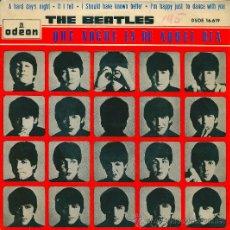 Discos de vinilo: THE BEATLES - QUE NOCHE LA DE AQUEL DIA (DSOE 16.619) ODEON - 1964. Lote 36106628