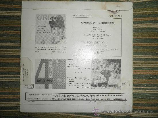 Discos de vinilo: CHUBBY CHECKER E.P. - THE FLY - ORIGINAL ESPAÑA - LA VOZ DE SU AMO 1962 - MONO - - Foto 5 - 35332125