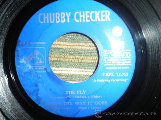 Discos de vinilo: CHUBBY CHECKER E.P. - THE FLY - ORIGINAL ESPAÑA - LA VOZ DE SU AMO 1962 - MONO - - Foto 3 - 35332125