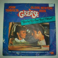 Discos de vinilo: SINGLE BSO GREASE.. Lote 35323006