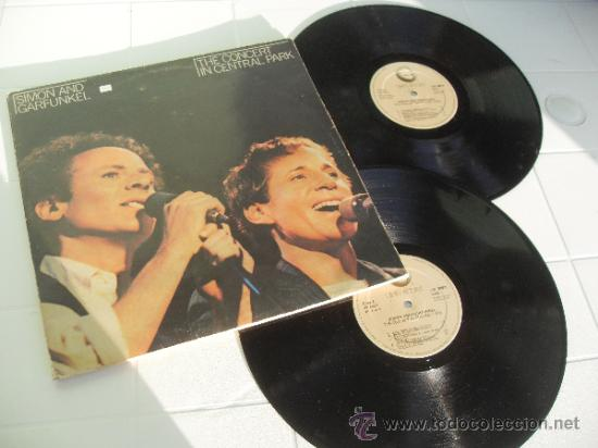 SIMON AND GARFUNKEL 2 LP THE CONCERT IN CENTRAL PARK MADE IN SPAIN 1982 (Música - Discos - LP Vinilo - Cantautores Extranjeros)