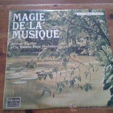 Discos de vinilo: MAGIE DE LA MUSIQUE- ARTHUR FIEDLER ET LE BOSTON POPS ORCHESTRA- FRANCE 1970. Lote 35363694