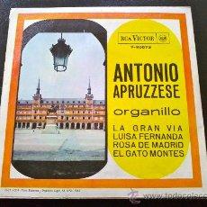 Discos de vinilo: ANTONIO APRUZZESE, ORGANILLO - LA GRAN VÍA, ETC.. Lote 35338974
