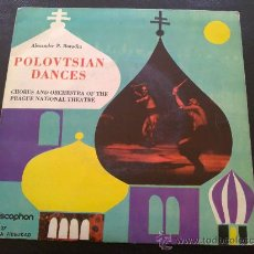 Discos de vinilo: ALEXANDER P. BORODIN, POLOVTSIAN DANCES - CHORUS AND ORCHESTRA OF THE PRAGUE NATIONAL THEATRE. Lote 35343357