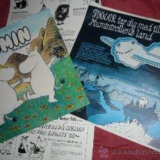 Discos de vinilo: MUMIN TILL SJOSS LP 1982 CON ENCARTE POSTER ECT LINDFORDS-BRANDT SWEDEN. Lote 45961603