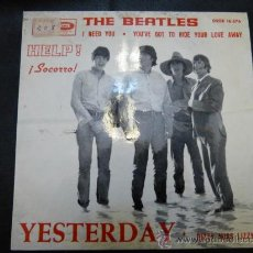 Discos de vinilo: SINGLE DE THE BEATLES,YESTERDAY. Lote 35368807