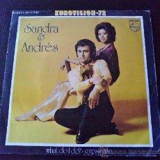 Discos de vinilo: SANDRA & ANDRÉS - WHAT DO I DO? GYPSY MAN - EUROVISIÓN 72 - SINGLE DE VINILO. Lote 35380065
