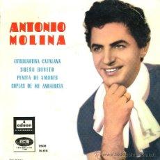 Discos de vinilo: ANTONIO MOLINA. ESTUDIANTINA CATALANA. Lote 35383270