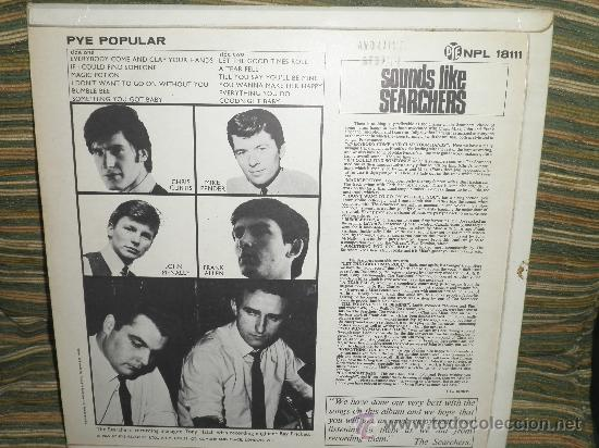 Discos de vinilo: THE SEARCHERS - SOUNDS LIKE SEARCHERS LP- ORIGINAL INGLES - PYE RECORDS 1965 - MONO - - Foto 25 - 35390767