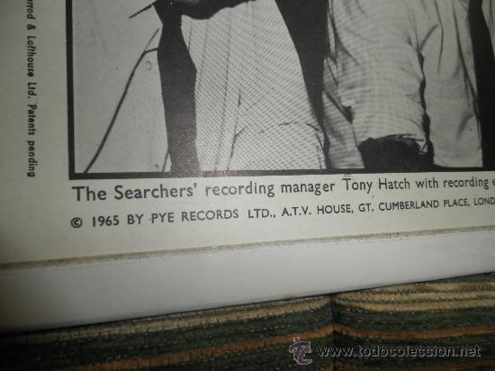 Discos de vinilo: THE SEARCHERS - SOUNDS LIKE SEARCHERS LP- ORIGINAL INGLES - PYE RECORDS 1965 - MONO - - Foto 17 - 35390767