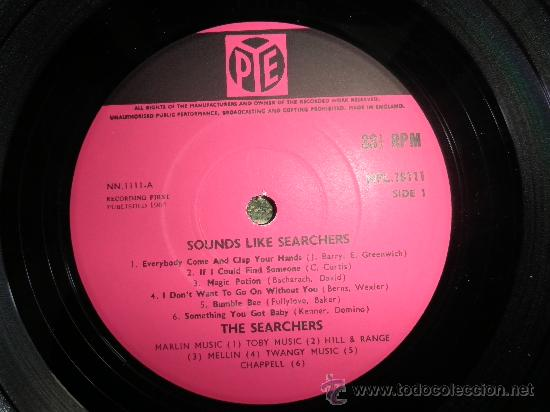 Discos de vinilo: THE SEARCHERS - SOUNDS LIKE SEARCHERS LP- ORIGINAL INGLES - PYE RECORDS 1965 - MONO - - Foto 3 - 35390767