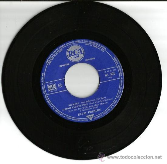 Discos de vinilo: EP ELVIS PRESLEY - NO MORE ( LA PALOMA ) + 3 - Foto 3 - 25060425
