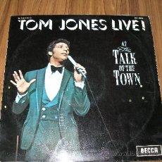 Discos de vinilo: TOM JONES LIVE - AT TALK OF THE TOWN. Lote 35387677