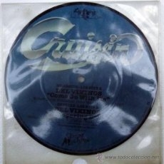 Discos de vinilo: DEL VIKINGS. COME GO WITH ME/ WHISPERING BELLS. CRUISIN, UK 1957 RE SINGLE (PICTURE). Lote 35389022