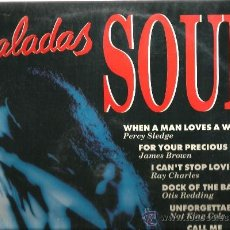 Discos de vinilo: DOBLE LP BALADAS SOUL: RAY CHARLES, OTIS REDDING, ARETHA FRANKLIN, JAMES BROWN, SAM COOKE,DIXIE CUPS. Lote 35403038