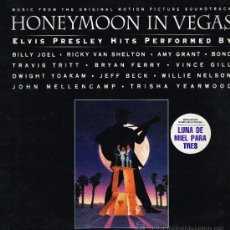 Discos de vinilo: BRIAN FERRY / JEFF BECK / AMY GRANT, ETC - HONEYMOON IN VEGAS. ELVIS PRESLEY HITS - LP 1992. Lote 35465118