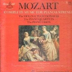 Discos de vinilo: MOZART. COMPLETE MUSIC FOR PIANO & STRINGS D-ESTUCHE-097. Lote 39714449