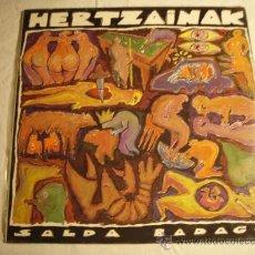 Discos de vinilo: HERTZAINAK - SALDA BADAGO - LP - PRECINTADO. Lote 35497755