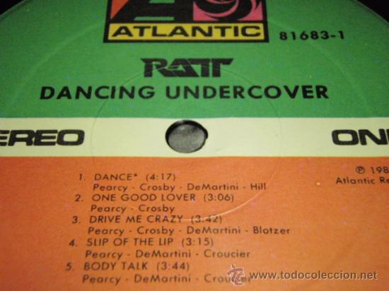 Discos de vinilo: RATT ( DANCING UNDERCOVER ) NEW YORK - USA 1986 LP33 ATLANTIC - Foto 5 - 144399269