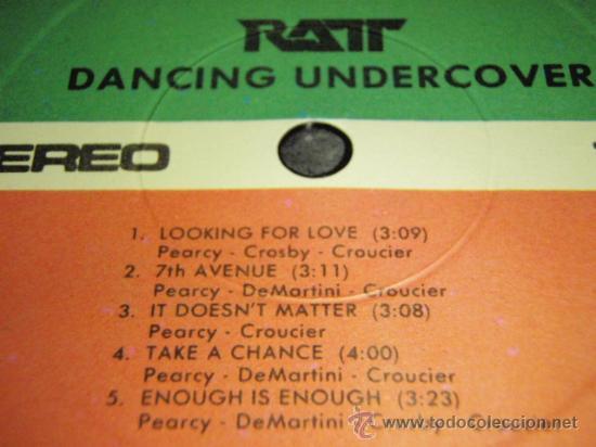 Discos de vinilo: RATT ( DANCING UNDERCOVER ) NEW YORK - USA 1986 LP33 ATLANTIC - Foto 6 - 144399269