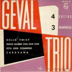 Discos de vinilo: GEVAL TRIO - ( CON EL CONJUNTO LOS DIABLOS ) - HELLO TWIST - CARAVANA + 2 - EP SPAIN 1963 VG++ / . Lote 35430370
