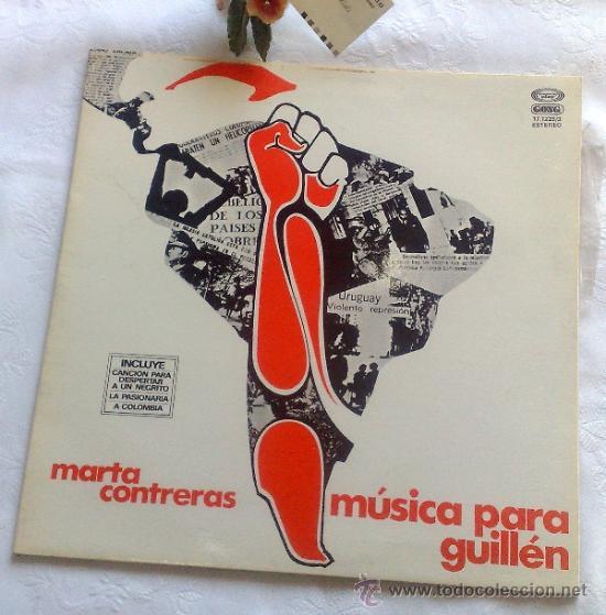 AÑO 1977.- MARTA CONTRERAS.- MÚSICA PARA GUILLÉN (Música - Discos - LP Vinilo - Otros estilos)