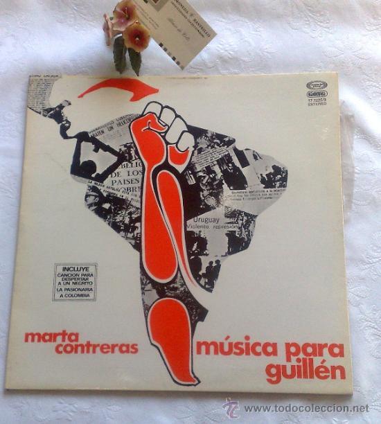 Discos de vinilo: AÑO 1977.- MARTA CONTRERAS.- MÚSICA PARA GUILLÉN - Foto 7 - 35437804