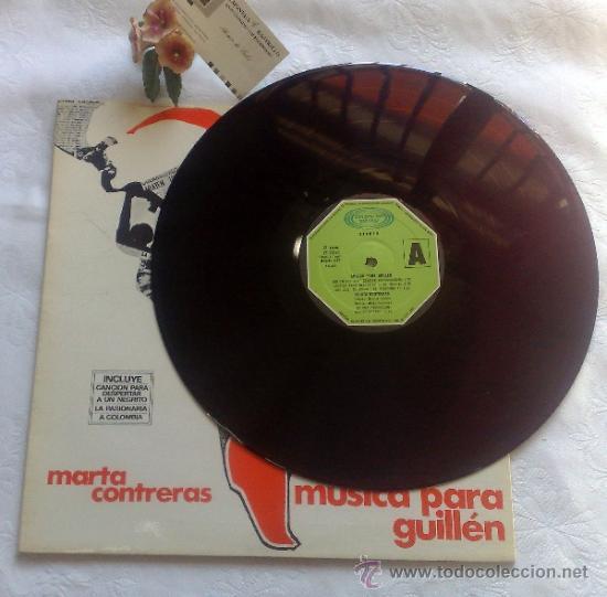 Discos de vinilo: AÑO 1977.- MARTA CONTRERAS.- MÚSICA PARA GUILLÉN - Foto 5 - 35437804