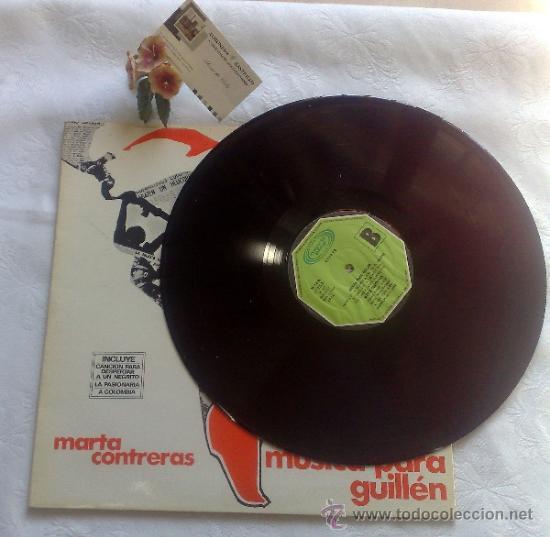 Discos de vinilo: AÑO 1977.- MARTA CONTRERAS.- MÚSICA PARA GUILLÉN - Foto 4 - 35437804