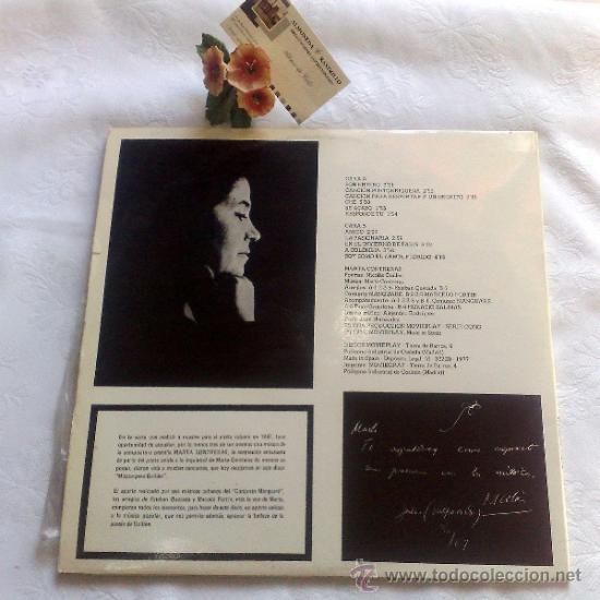 Discos de vinilo: AÑO 1977.- MARTA CONTRERAS.- MÚSICA PARA GUILLÉN - Foto 2 - 35437804