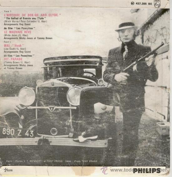 Discos de vinilo: JOHNNY HALLYDAY - THE BALAD OF BONNIE AND CLYDE - EP FRANCE VG+ / VG+ - Foto 2 - 35448955