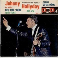 Discos de vinilo: JOHNNY HALLYDAY - ( CONCERT DE ROCK ) TUTTI FRUTTI + 3 - EP FRANCE CG++ / VG++. Lote 35449071