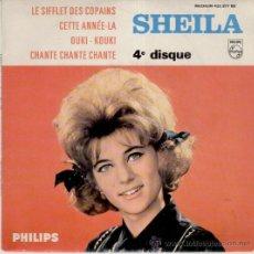 Discos de vinilo: SHEILA - LE SIFFLET DES COPAINS - OUKI - KOUKI +2 - EP FRANCE VG++/ VG++. Lote 35450516