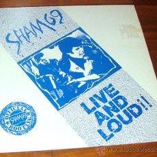Disques de vinyle: LP VINILO 'LIVE AND LOUD!!' (SHAM 69). Lote 157793782