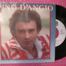 Discos de vinilo: PINO D´ANGIO - IL RAPIDO DI MEZZANOTE / UNA NOTTE MALEDETTA ( 1984 WEA ). Lote 35482583