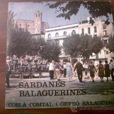 Discos de vinilo: SARDANES BALAGUERINES-COBLA COMTAL I ORFEÓ BALAGUERÍ-DISCOPHON 1980. Lote 35483557